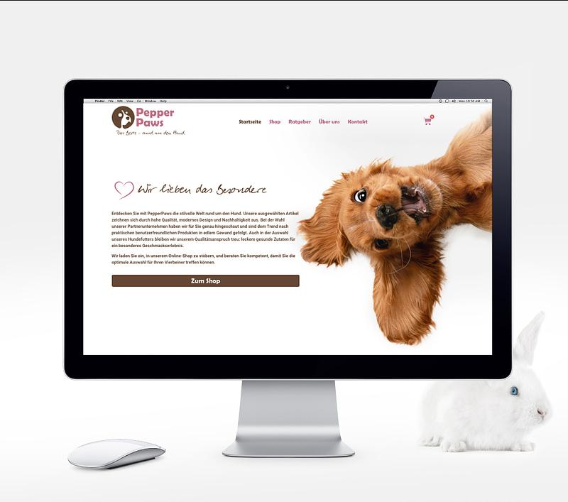 PepperPaws Webentwicklung - Webdesign e-commerce Referenz kuenzl.dev