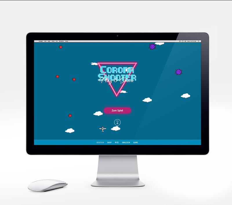 Coronashooter Webentwicklung browsergame Referenz kuenzl.dev
